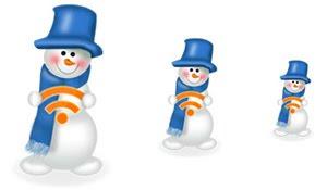 Новогодние иконки: снеговики
