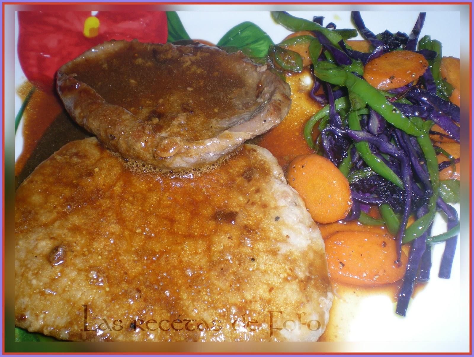 Las recetas de f fo filetes de ternera en salsa de soja - Filetes de ternera en salsa de cebolla ...