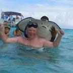 Jag på Cayman Öarna