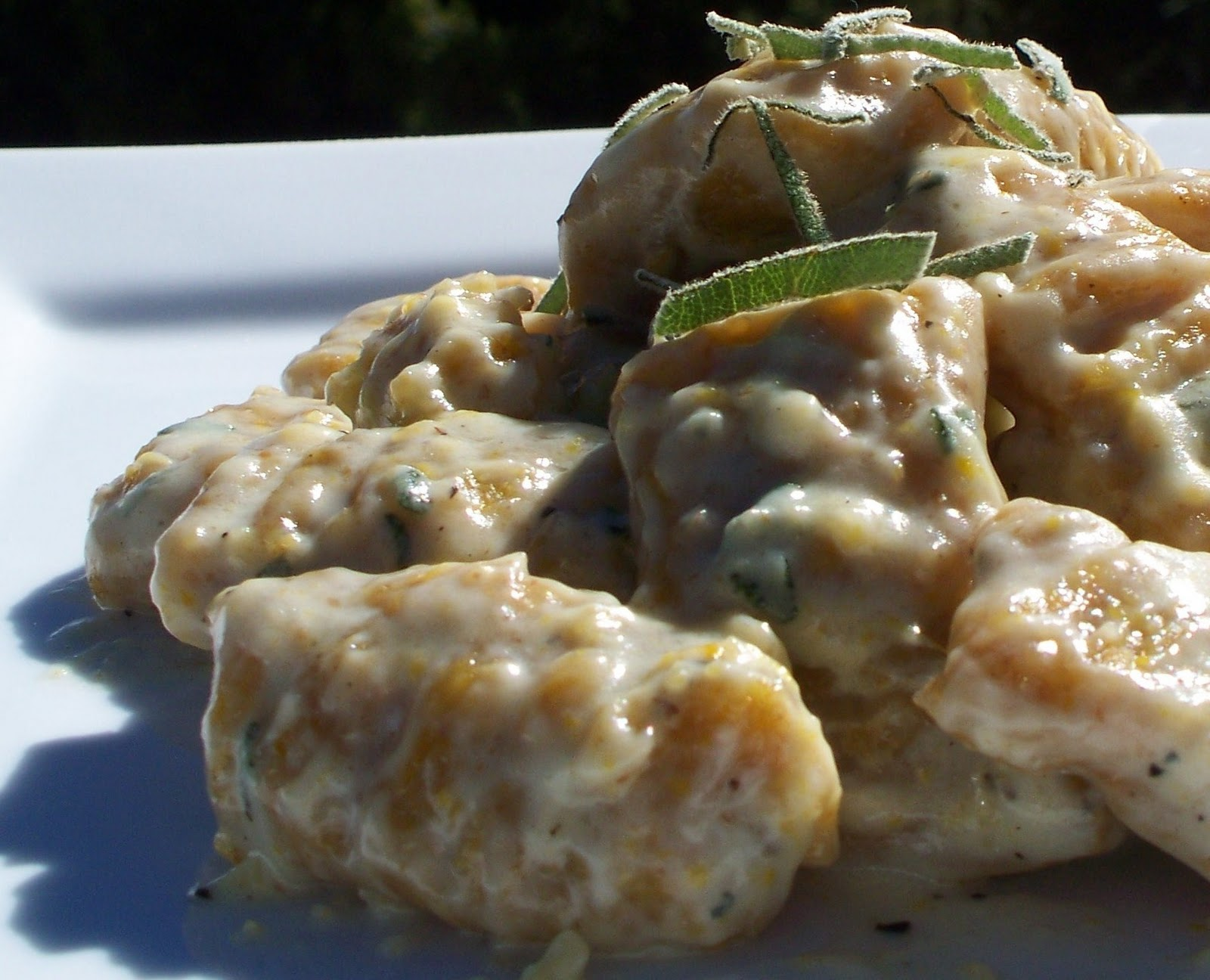 ... Enchantress Cooks!: Pumpkin Gnocchi with Creamy Gorgonzola and Sage