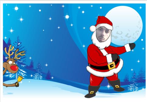 Santa yourself carte de no l 2009 personnalis e avec p re no l - Carte noel personnalisee ...