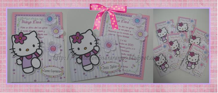 Linda Invitación de Hello kitty
