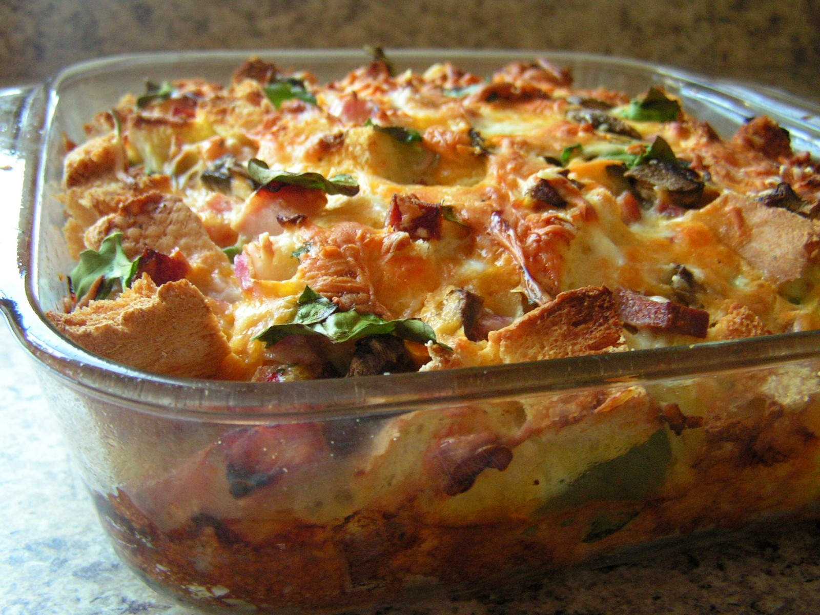 HAM & CHEESE STRATA - Butter With a Side of Bread