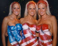 American flag bodypaint - Patriotic Body Art Paint