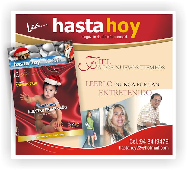 REVISTA DE EDICION MENSUAL HASTA HOY