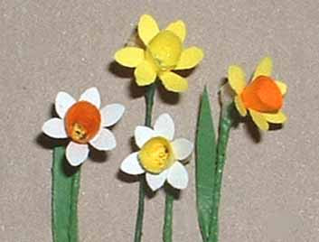 how to make a 3d daffodil out of paper