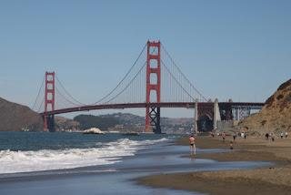 在貝克灘看金門橋