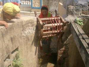 Sangat from Punjab is taking darshan of the well