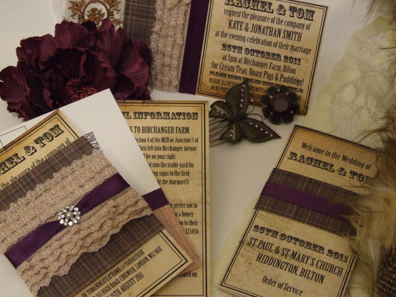 Fashion Celebrity Style: Knots & Kisses Wedding Stationery - Vintage ...