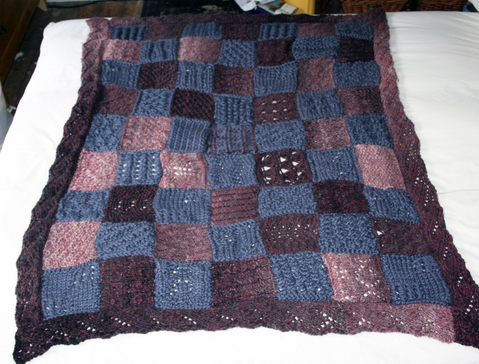 Free Knitting Patterns For Patchwork Blankets
