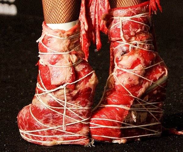 lady gaga meat dress shoes. to believe that Lady Gaga