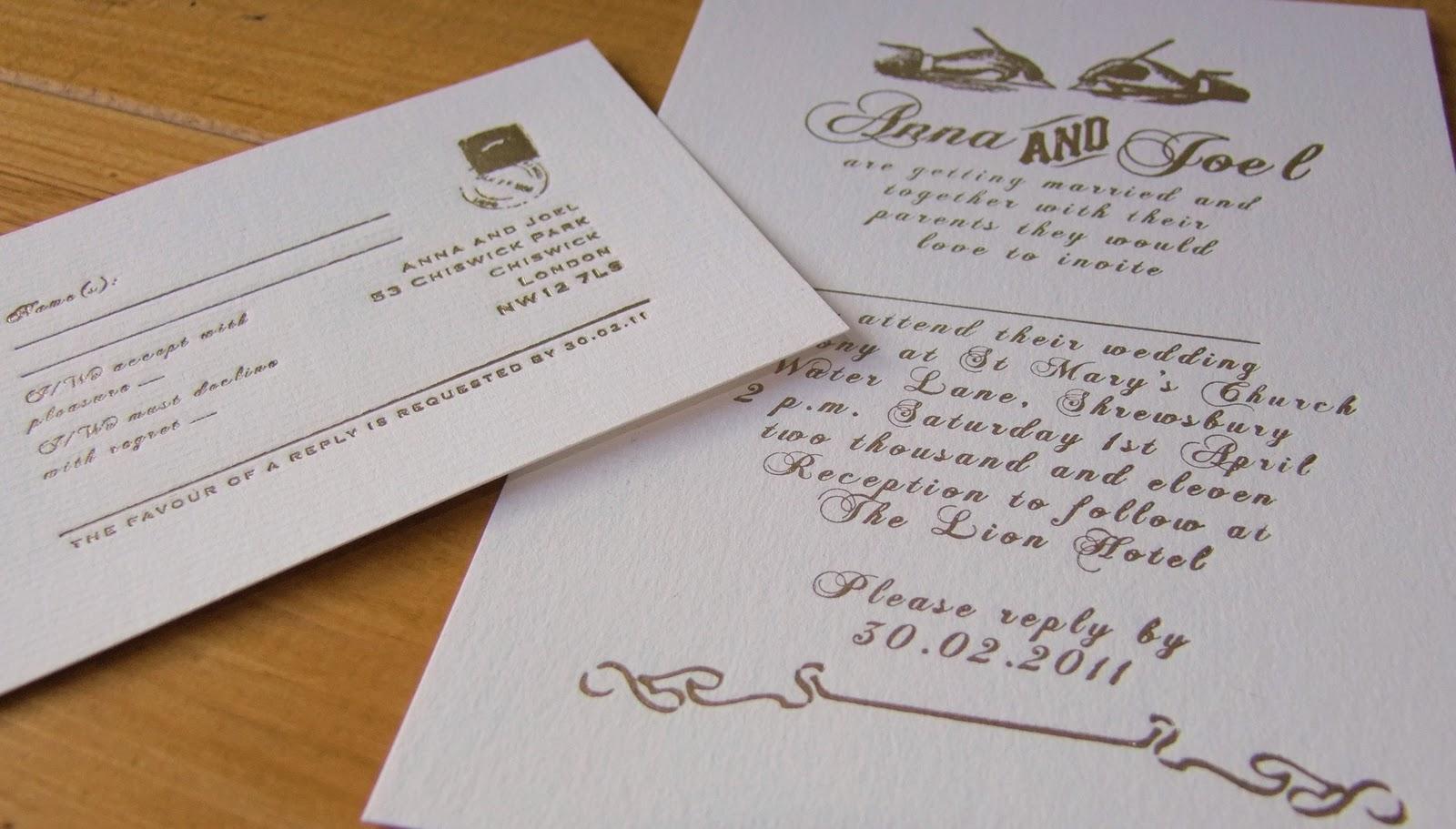 If the wedding goes wild november 2010 telegrame wedding invitation and rsvp card stopboris Choice Image