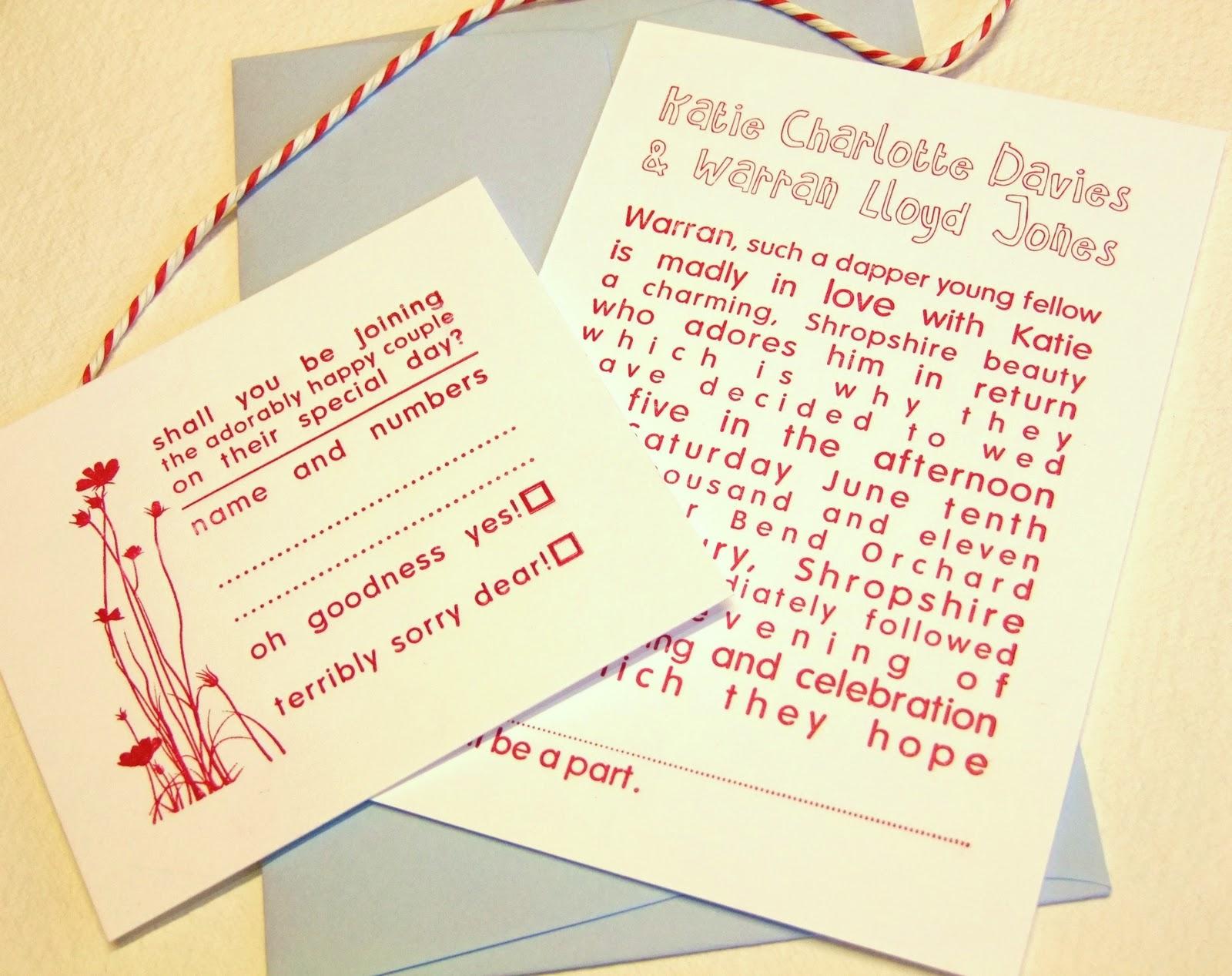 wedding invitation rsvp poem - 28 images - 10 x personalised vintage ...