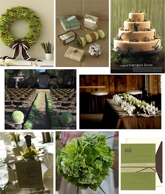 Re Brown and Green Wedding