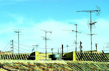 Tejados con antenas viejas