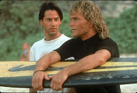As in Road House, Swayze's philosophical proclivities compel him to commit acts of startling violence.