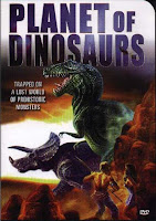 This poster gives a false impression of the movie by featuring way too many dinosaurs