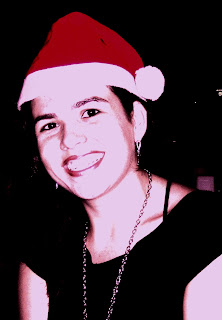 foto com gorro de papai noel feliz natal