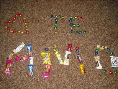 Te Amo com chocolates