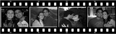 foto em negativo de filme
