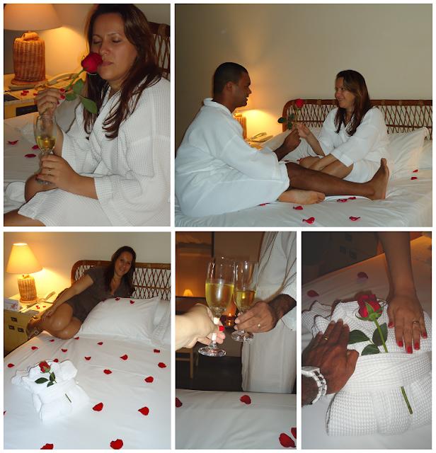 noite romântica e surpresa no hotel