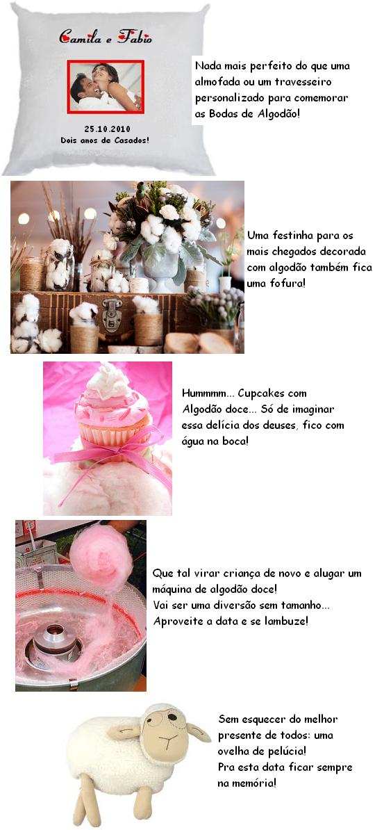 ideias criativas para bodas de algodão
