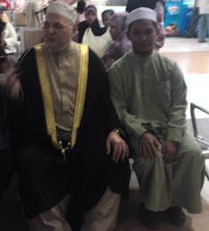 bersama al-muhaddis  A'lim al-alamah Syeikh Muhammad Ibrahim al-Kattani al-hussaini(muhaddis mesir)