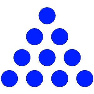 flecha con círculos