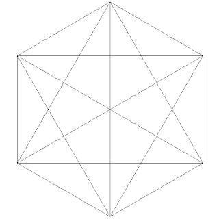 Hexágono con diagonales