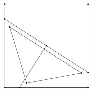 Triángulo dentro de un cuadrado