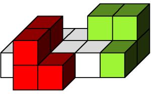 Colocando dos policubos