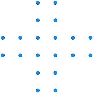Cruz de puntos