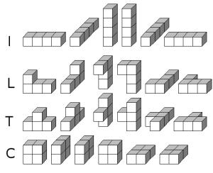 Cuatro policubos de orden 4
