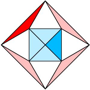 Triángulos y cuadrados