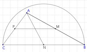 Construcción de una semicircunferencia