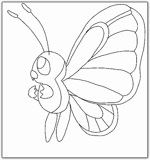butterfly coloring pages crayola pokemon - photo#3