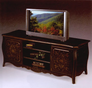 Entertainment - TV Stands And Tables - European Black Entertainment Center