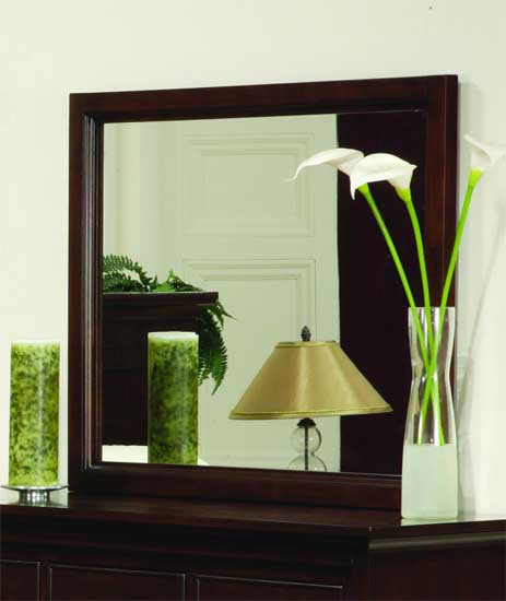 Modern Furniture -  Bedroom Furniture - Dressers With Mirrors - Glamour Collection Dresser With Mirror