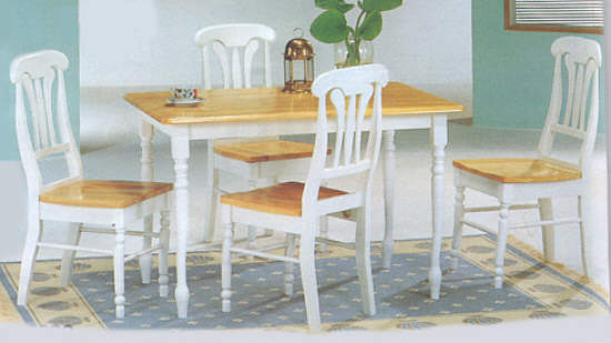 Modern Furniture -  Dining Room Furniture Sets - Rectangular Farm Table Sets - Natural Wood Butcher block Table Set