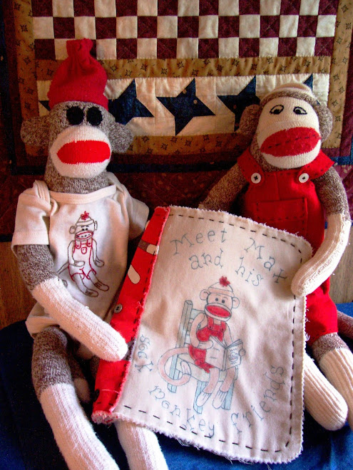 cover for sock monkey fabric coloring book