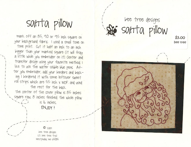 Advent Santa Pillow