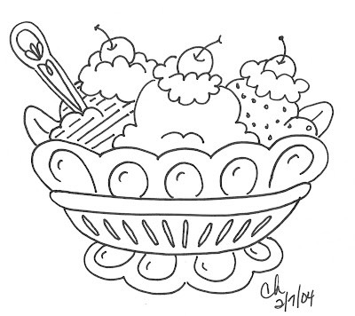 Banana Split Coloring Page