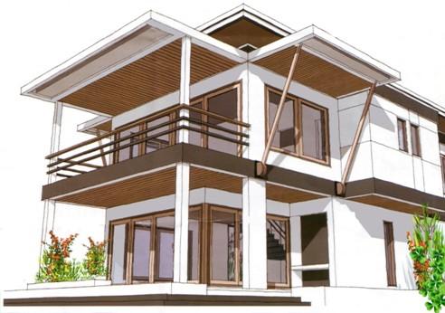 contoh desain rumah on RENOVASI RUMAH ATAU BANGUN BARU: contoh desain