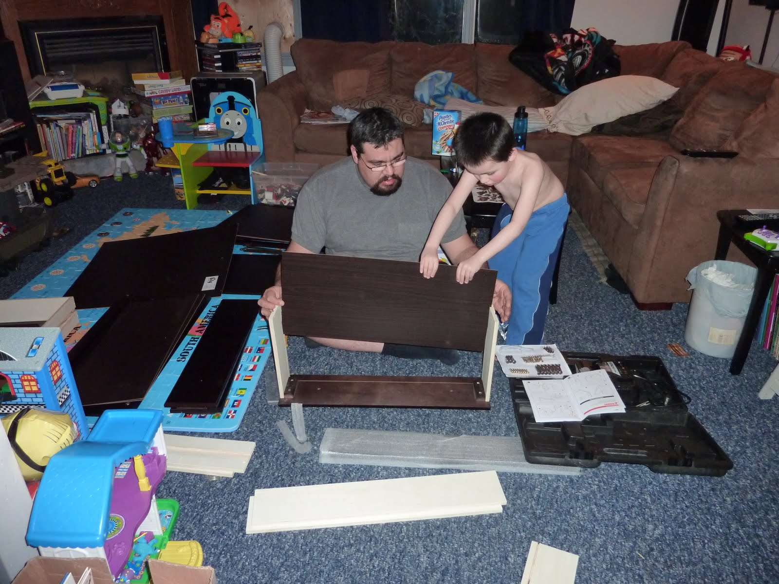 Making memories to last a life time putting together the for Furniture you put together