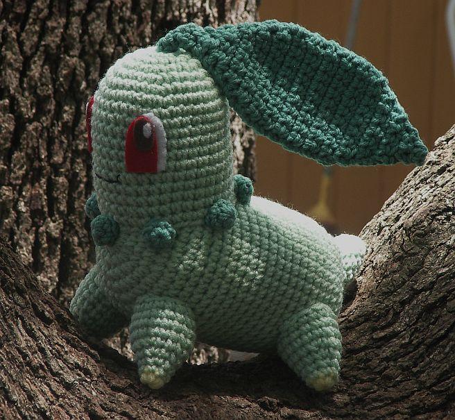 Amigurumi Pokemon Wolfdreamer : WolfDreamer: Chikorita Plushie