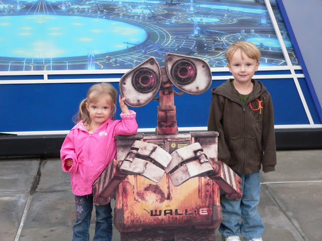 Katie,and Logan with walle
