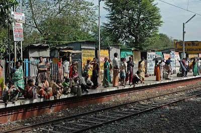 Waiting at Baghajatin railway station 1
