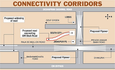 Proposed flyovers at Jadavpur PS