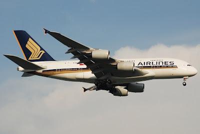 A380 at Changi Airport