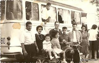 Motorizados en Candelario en 1966